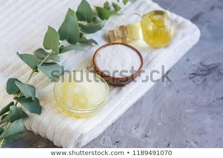 Test bozót tengeri só házi készítésű kozmetikai fürdő Stock fotó © joannawnuk