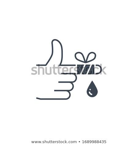 раненый пальца вектора икона изолированный белый Сток-фото © smoki