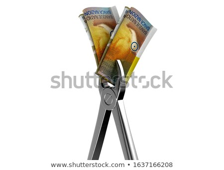 Dentist Pliers And Franc Banknotes Stock photo © albund