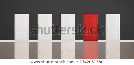 Multiple doorchoice Stock photo © orla