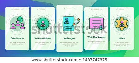 Hr Human Resources Onboarding Elements Icons Set Vector Stock photo © pikepicture