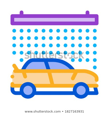 continuous car wash icon vector outline illustration Stock photo © pikepicture