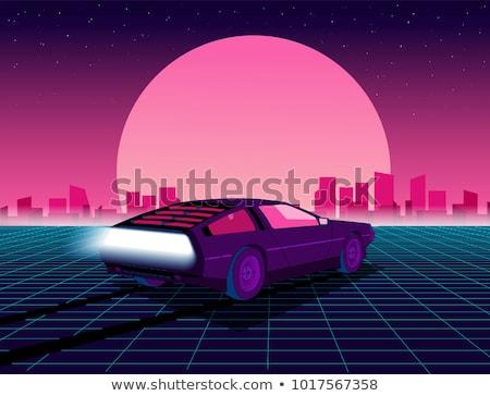 Retro Future of the 80s 1980s Retro Futuristic Background Style. Stock photo © tashatuvango