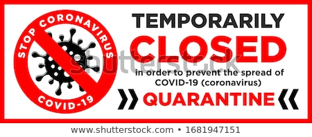 Yellow biohazard sign with QUARANTINE text Stock photo © alessandro0770
