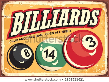 Snooker Billiard Game Advertising Banner Vector Stock photo © pikepicture