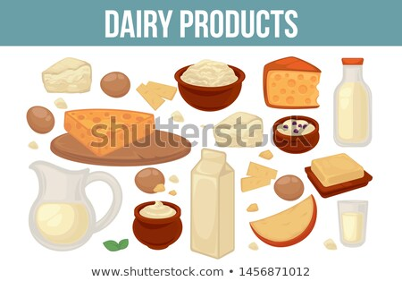 Kefir Organic Healthy Food, Diary Products Vector Stock photo © robuart