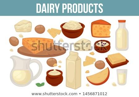 Kefir Organic Healthy Food, Diary Products Vector Stock photo © robuart