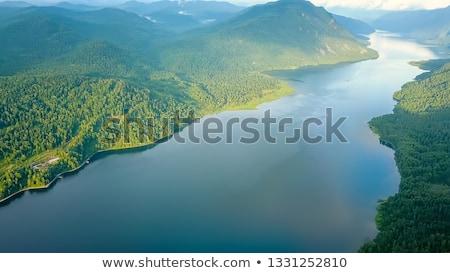 Aerial view on Teletskoye lake in Altai mountains Stock photo © olira