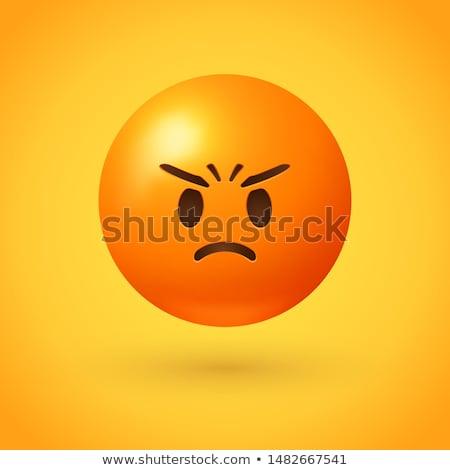 Ranzinza ilustração chateado cansado emoticon emoção Foto stock © barsrsind