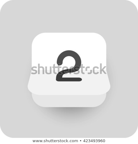 Simple black calendar icon with 2 april date isolated on white Stock photo © evgeny89