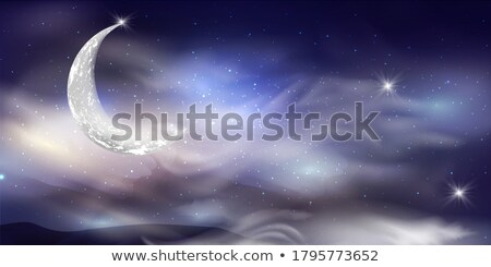 Realistic dark night sky with many stars and constellations, detailed background Stock photo © evgeny89