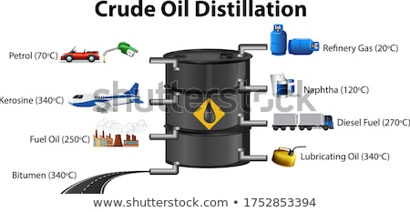 Crude oil distillation process isolated on white background Stock photo © bluering