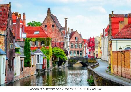 Bruges canals Stock photo © dmitry_rukhlenko