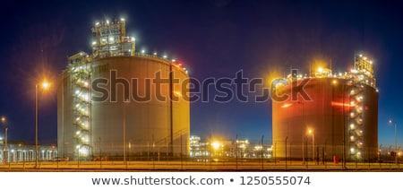 Erdgas Port industriellen Reservoir Meer Zwielicht Stock foto © dmitry_rukhlenko