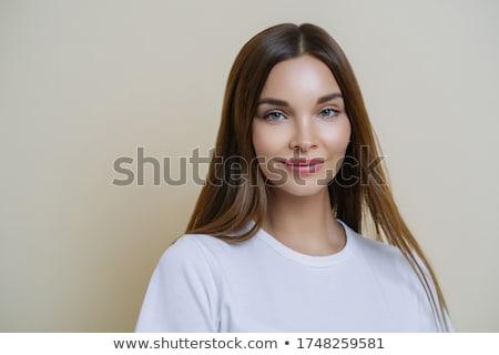 Izolált lövés kellemes néz nő sötét Stock fotó © vkstudio