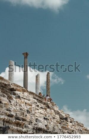 Couple on the Tour to Necropolis in Lebanon Stock photo © Anna_Om