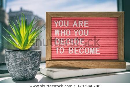 Inspiratie citaat bericht teken gezegde leven Stockfoto © Maridav