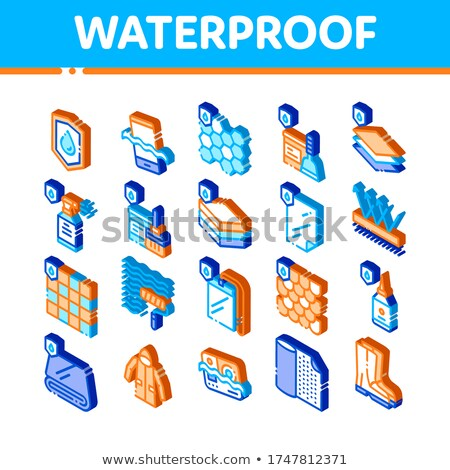 Waterproof Material Spray isometric icon vector illustration Stock photo © pikepicture