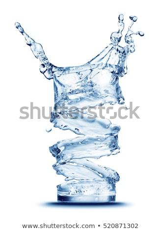 Frissítő víz fiatal nő csobbanás hideg égbolt Stock fotó © georgemuresan