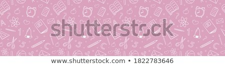 Photo stock: Back To School - Background With Education Icons