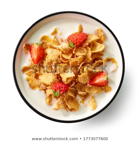 corn flakes with berries   isolated stock photo © francesco83