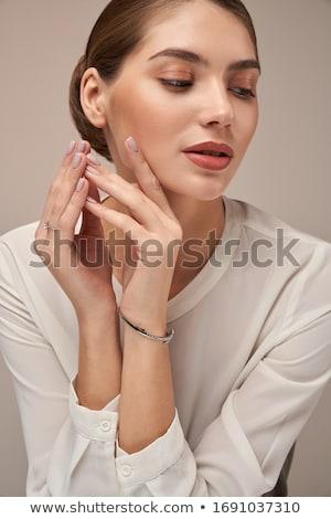 Tökéletes smink közelkép káprázatos női arc Stock fotó © pressmaster