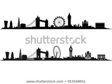 Londres Skyline silhouette isolé blanche réflexions Photo stock © cidepix