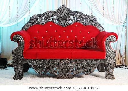 couple · s'asseoir · canapé · sombre · salle · visage - photo stock © Paha_L
