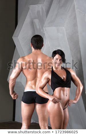 Mulher topless um em esportes modelo Foto stock © Paha_L