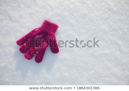 Stock photo: Closeup of girl laying in snow