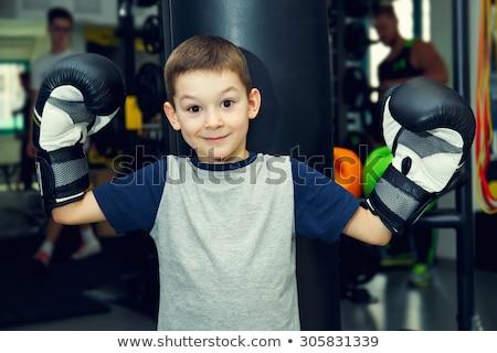 erkek · spor · salon · boks · eldivenleri · el · çocuk - stok fotoğraf © Paha_L