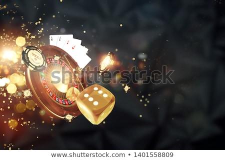 Casino rueda de la ruleta afortunado estrellas resumen Foto stock © sahua