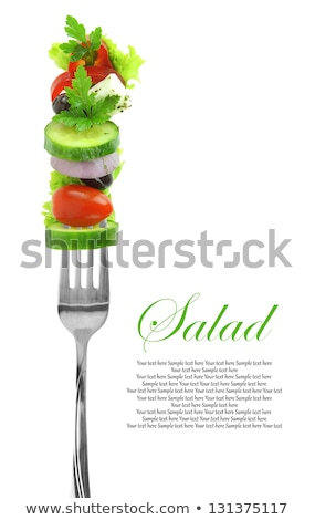 fresh vegetables on a fork stock photo © elenaphoto
