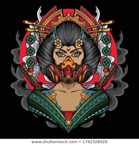 гейш самураев тело дизайна красоту искусства Сток-фото © sahua