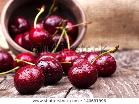 チェリー 緑の葉 食品 フルーツ グループ ストックフォト © vlaru