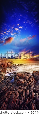 Spectacular sunset over the sea. Long exposure shot. Stock photo © moses