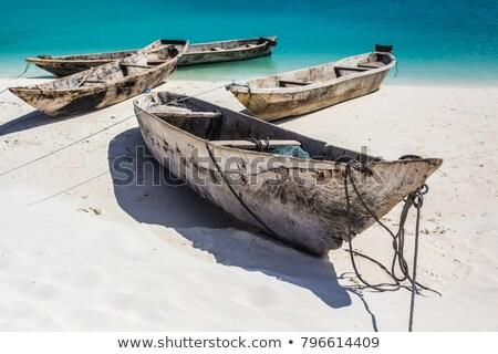 якорь металл лодка веревку паруса Танзания Сток-фото © gant