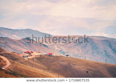 Atlasz hegy alkonyat Marokkó hegyek kilátás Stock fotó © smithore
