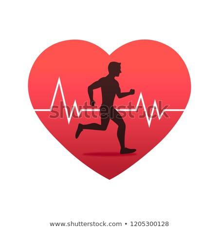 vector heartbeat and running man stock photo © freesoulproduction