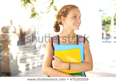 young woman carrying folders stock photo © photography33