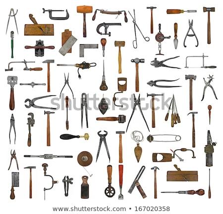 Nostalgiczny narzędzia rustykalny drewna rdzy narzędzie Zdjęcia stock © prill