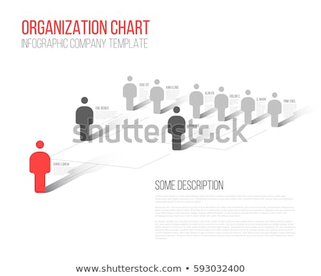 3d illustration of leadership and hierarchy concepts  Stock photo © dacasdo