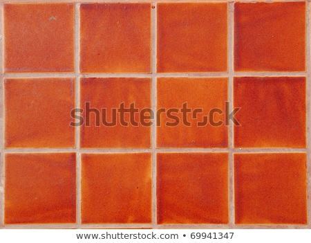 Contemporary Red Tile glossy mosaic Earthenware material Stock photo © ozaiachin