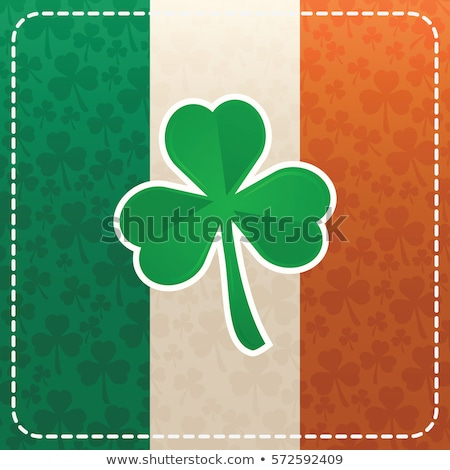 Irish Flag Clover Stock photo © lenm