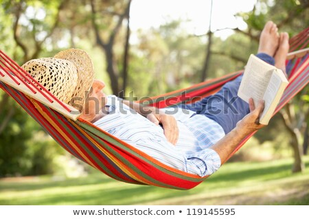 senior relaxing outdoors stock photo © photography33