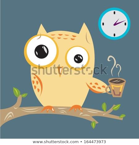 Insomnio búho reloj trabajo color sueno Foto stock © Galyna