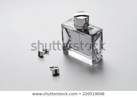 Foto stock: Erfume · colônia · homem · com · loção · pós-barba