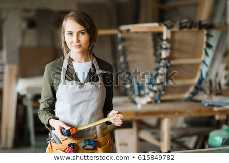 female woodworker posing Stock photo © photography33