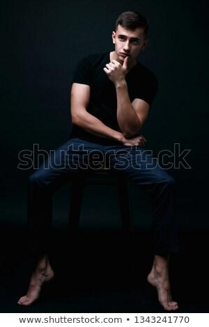 model on chear Stock photo © zastavkin
