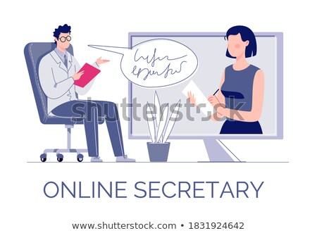 Secretary present screen stock photo © adam121
